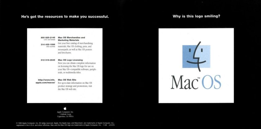 Apple Why is this logo smiling foldout