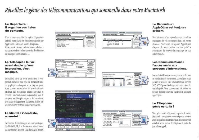 Apple Djinn brochure France Télécom
