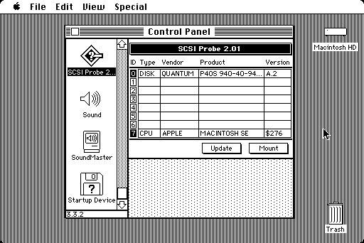 SCSIProbe tableau de bord