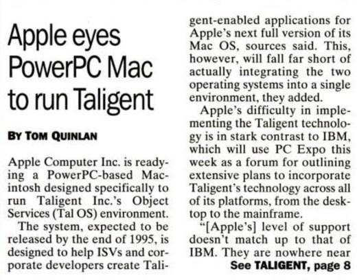 Apple Taligent IBM
