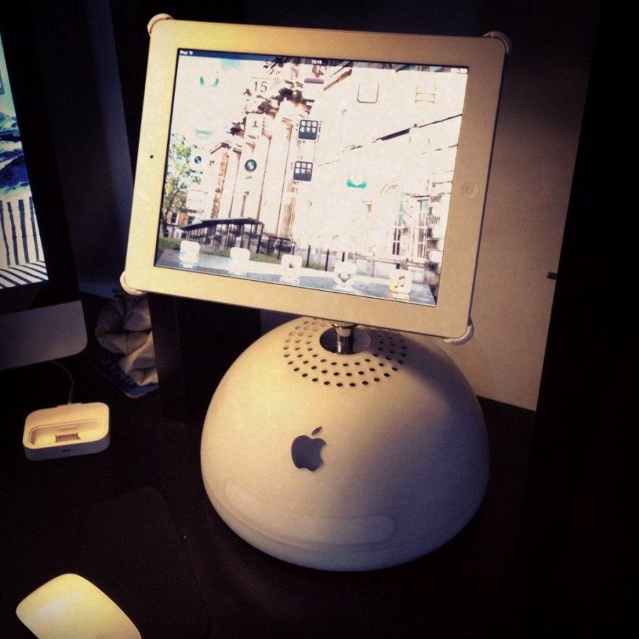 iMac G4 iPad stand