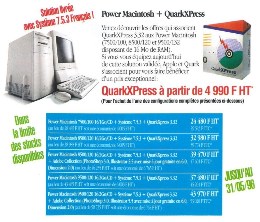 Apple et QuarkXPress
