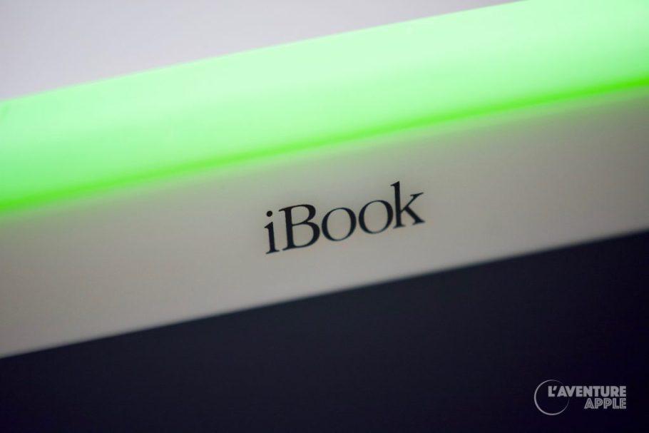 Apple iBook Key Lime (vitron vert) close-up gros plan