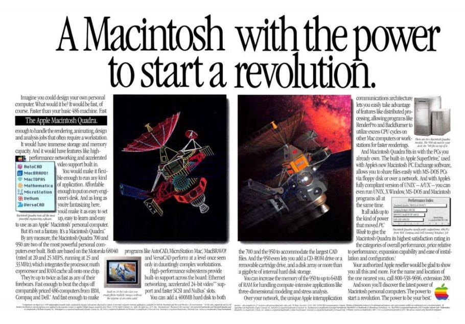 Apple Macintosh Quadra 1992 Apple Ad