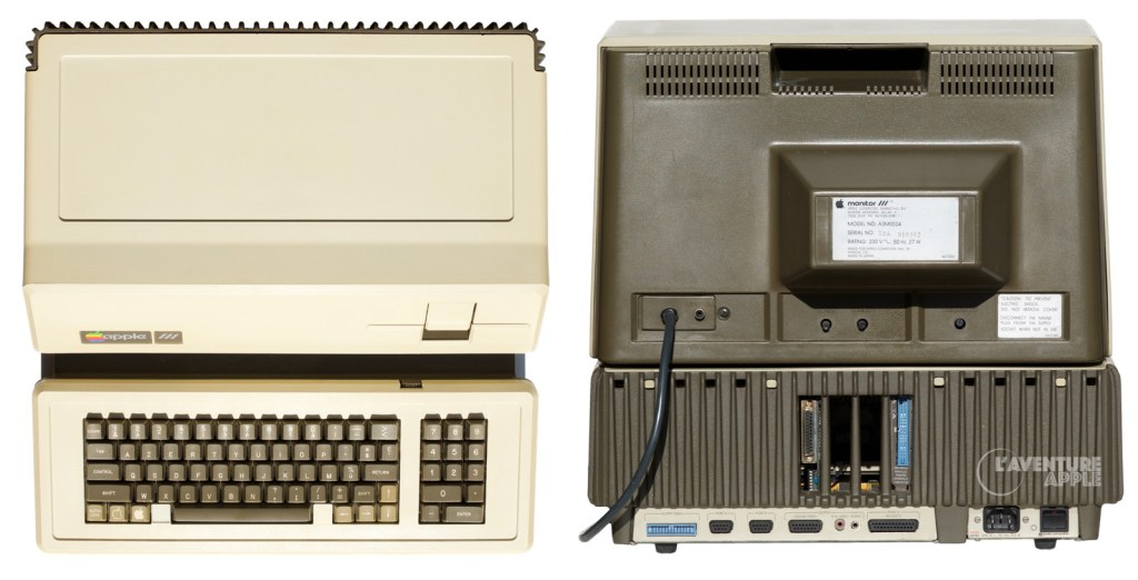 Apple III top and back