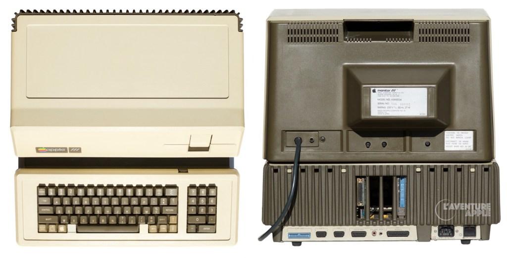 Apple III top and back