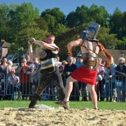 Combat de gladiateurs Spectacle équestre Quiberville D70_1805