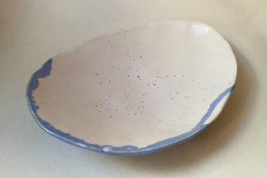 Grand bol bleu et blanc par La grenouille égarée sur Etsy