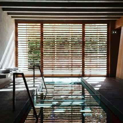 Magnifique spa avec piscine de l'hôtel des Berges dans le complexe de l'Auberge de l'ill