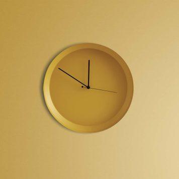 Horloge Dish jaune – Atipico