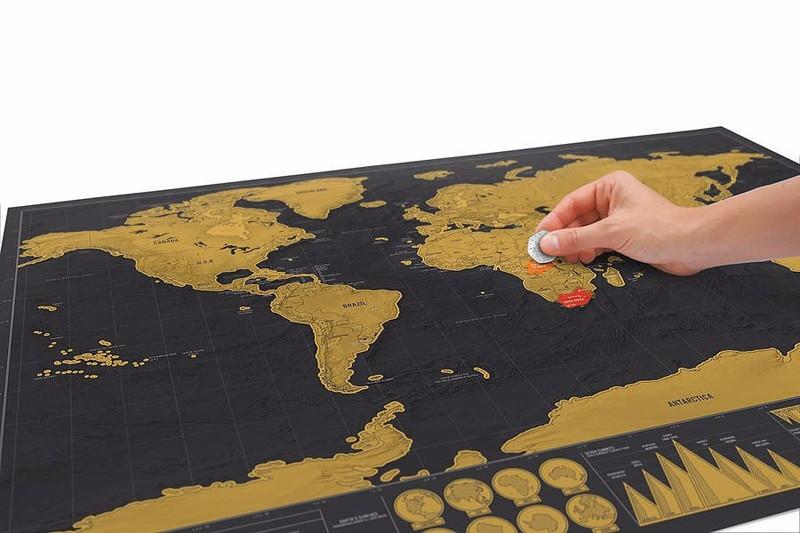 Carte du monde scratch