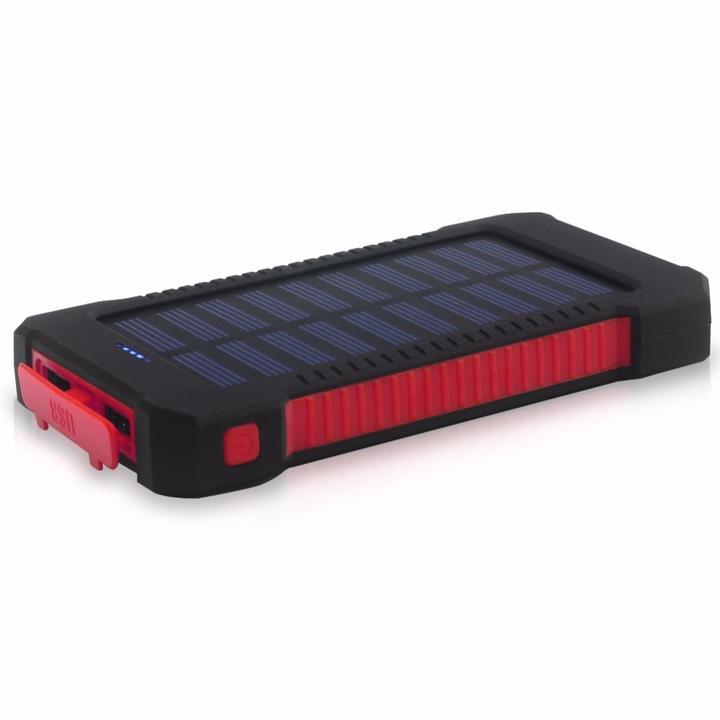 batterie externe rouge