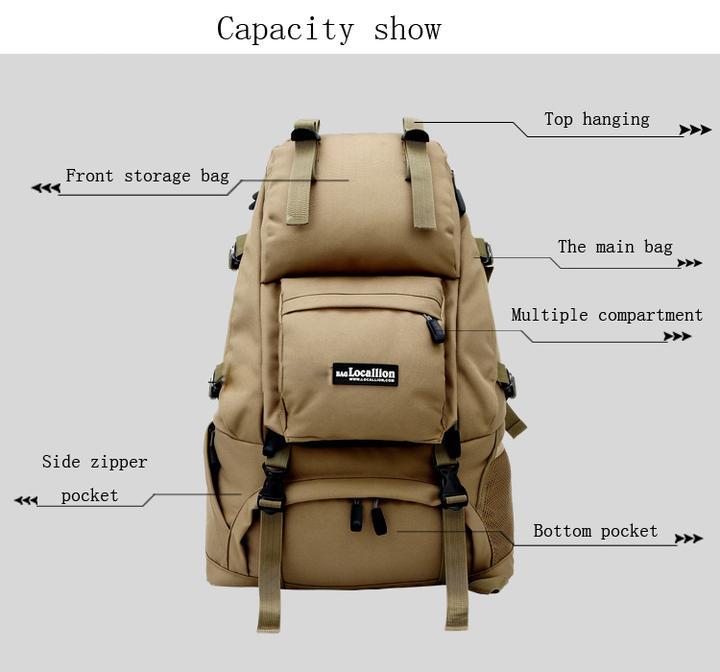 détails du sac à dos