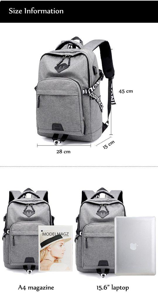 taille du sac à dos
