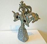 "Jits Bakker, ""Donkey Shot"", brons, hoog 30 cm."