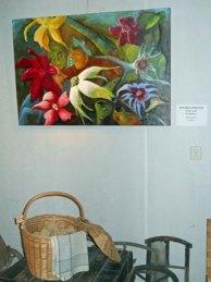 """Het """"Acquarium"""" van Anne-Maria Waterreus, hangt in het Depot in het Veluws Museum Hagedoorns Plaatse."""