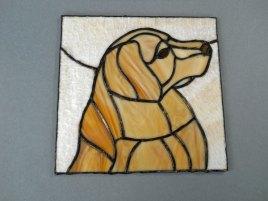 "Harm van Kamp, ""Hond , Tiffany, 20 x 20 cm. n.t.k."