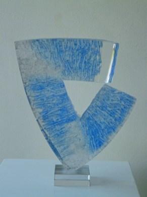 """Grzegorz Staniszewski, """"Zonder titel"""", 2010, kristalglas, 39x35 cm (hxb)."""