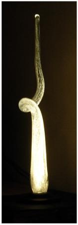 "Ron Haseth, ""Bottone II"", 2010, glasreflectielamp, hoogte 89 cm."