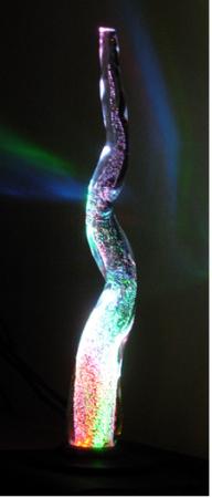 "Ron Haseth, ""Tornado II"", 2010, glasreflectielamp, hoogte 85 cm."