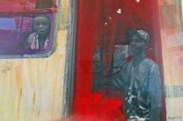 """Maartje Punt, fotografie, """"In motion"""", paneel totaal 97 x 71 cm."""