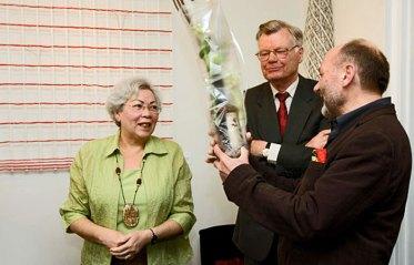 Margriet pleiter bedankt Jörg Zimmermann.