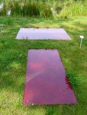 """Jesse Magee heeft zijn """"Blood line""""een andere interpretatie gegeven: Bloed in het Park."""