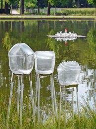 """Wie wil niet graag een """"Glazenhuis op stelten"""" in zijn tuin hebben staan? Bibi Smit kan u daar aan helpen."""