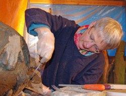 Monica Ligteringen in haar atelier.