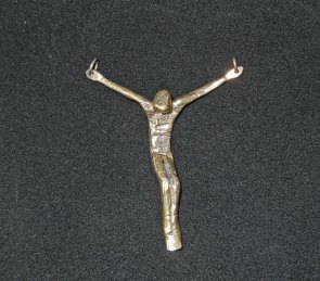 "Jits Bakker, Hanger ""Crucufix"", 1e gehalte zilver."