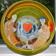 "Stanislav Jan Borowski, ""The Lounge"", diverse glastechnieken, diameter 50 cm."