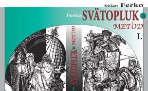 """Lubomir Ferko, illustration on the cover of the historical roman from his father """"Oballka""""."""