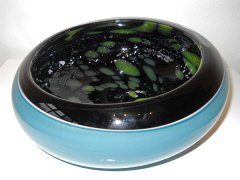 """Geir Nustad, """"Galaxy bowl"""" blue, 2015, 9 x 24 cm."""