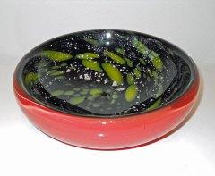 """Geir Nustad, """"Galaxy bowl"""", red, 2015, 8 x 22 cm."""
