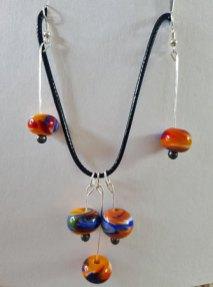 Lampwork glazen kralen - diverse en een paar oorbellen