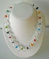 Murano Collier Crystal, lengte 55 cm.