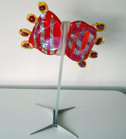 Heavy Twins - roll-up techniek, hoogte 53 cm, serie van 5.