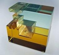Midas Touch - glas en metaal, 15x6x15 cm.