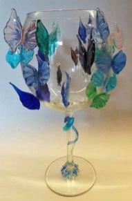 Vlinders - aan de brander gemaakte vleugels - hoogte 23 cm.