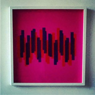 Stripes in pink, plexiglas, 50 x 50 cm.