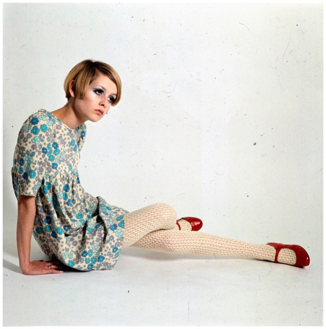 Twiggy In Red Shoes