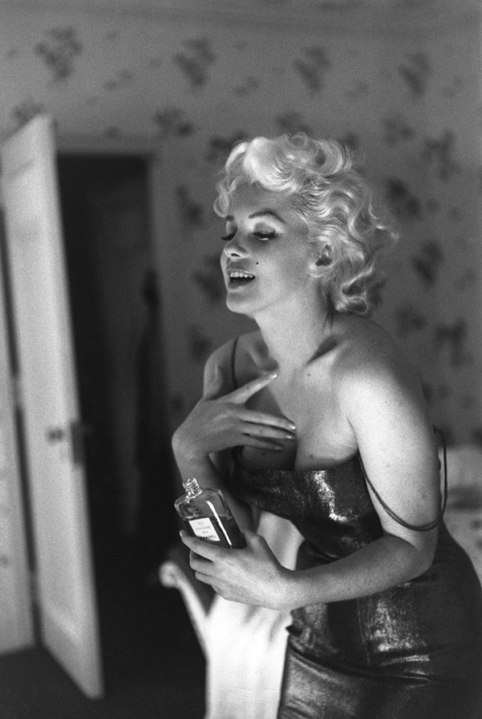 Marylin Monroe pour Chanel No 5 en 1955