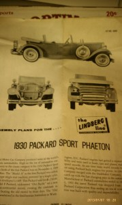 1930 Packard.  This is a 1960's model - the original box is long gone
