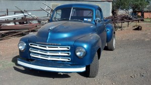 Workhorse 1/2 ton pickup.  Hard to find one now that hasn't been customized.