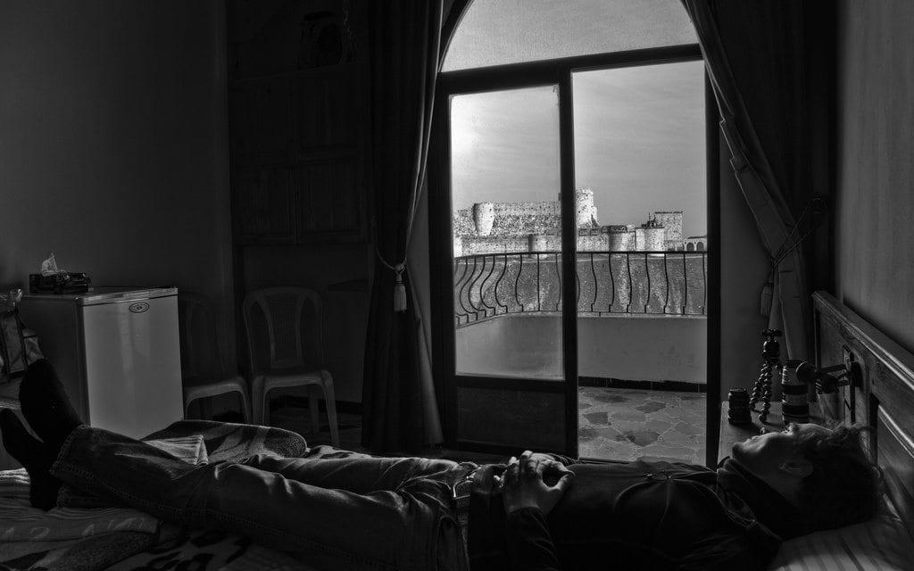 Krak des Chevaliers/Qalat al-Hosn, Syria. CC photo by Jon Martin.