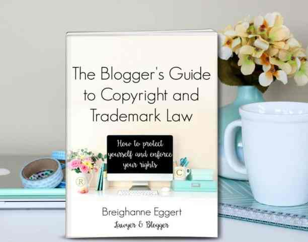 This ebook is a must read for any blogger! Written by a copyright attorney turned blogger, this book is easy to understand and incredibly helpful! https://canarystreetcrafts.com/