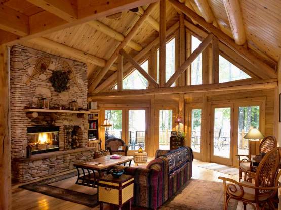 Residential construction - log home and timber frame builder - Aver Contracting in Colorado