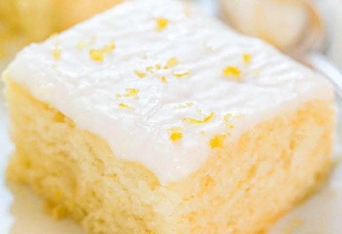 Lemon Buttermilk Cake With Lemon Glaze Averie Cooks