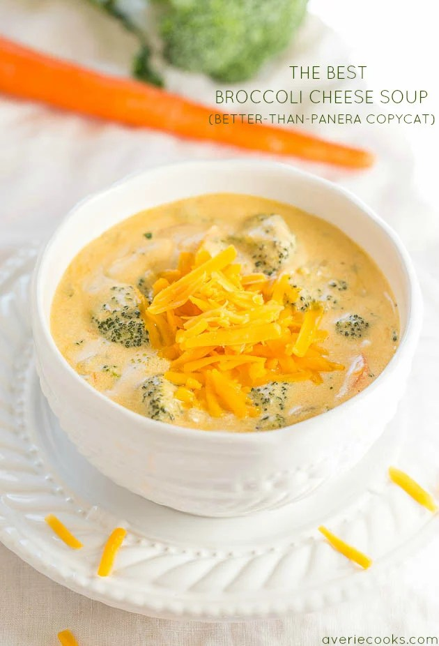 The Best Broccoli Cheese Soup Better Than Panera Copycat Averie Cooks