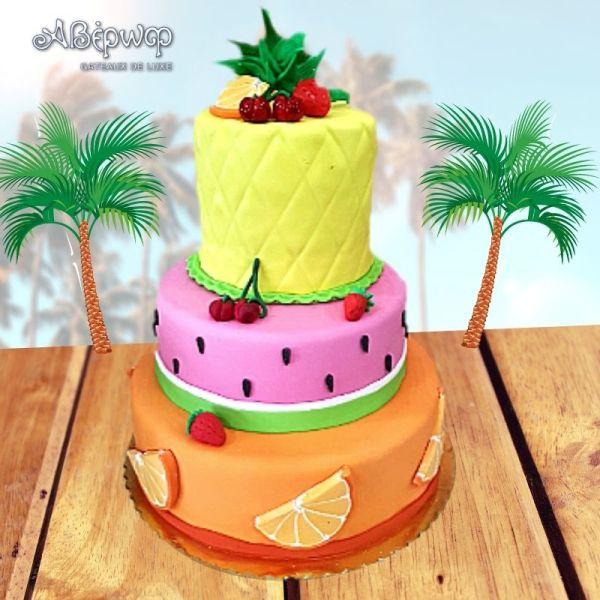 Τούρτα Tutti Frutti Σχέδιο 3D